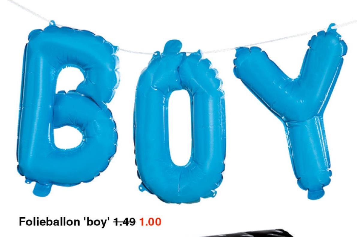 Folieballon 'boy' 1.49 1.00