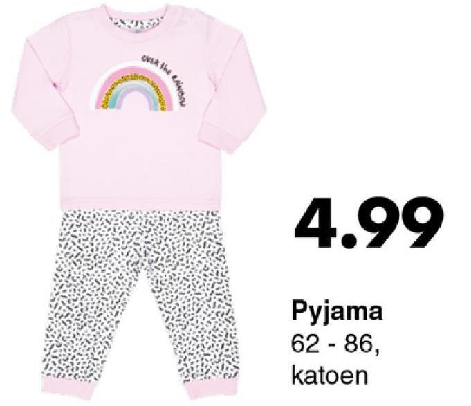 OVER the BNN 4.99 Pyjama 62-86, katoen