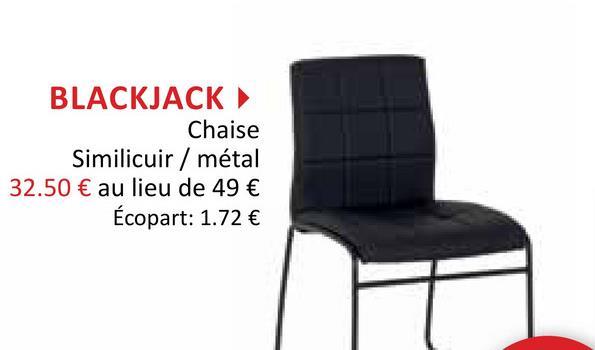 Chaise Blackjack noir Chaises Chaises De Salle à Manger Chaises De Cuisine Chaises