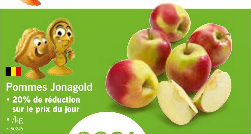 Pommes Jonagold • 20% de réduction sur le prix du jour •/kg n° 80245