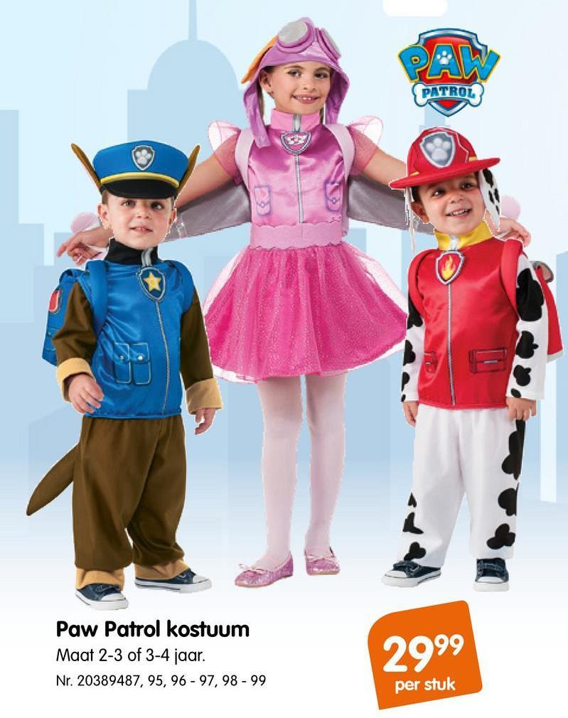 Kostuum Paw Patrol Chase Kostuum Paw Patrol Chase