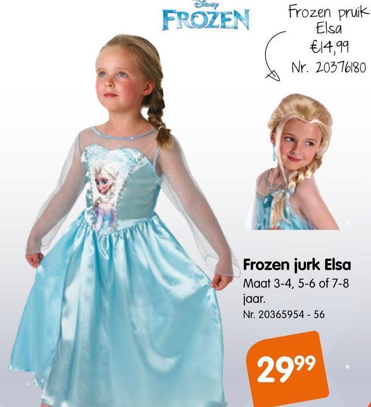Frozen Elsa Kostuum Sneeuwkoningin Verkleed je met deze mooie jurk als je favoriete prinses, Elsa.