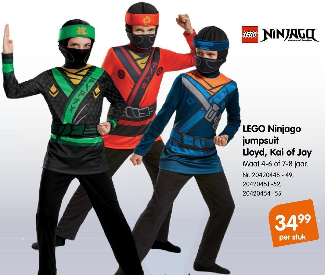 LEGO NINJAGO Jumpsuit Lloyd 4-6 Jaar LEGO NINJAGO Jumpsuit Lloyd 4-6 Jaar