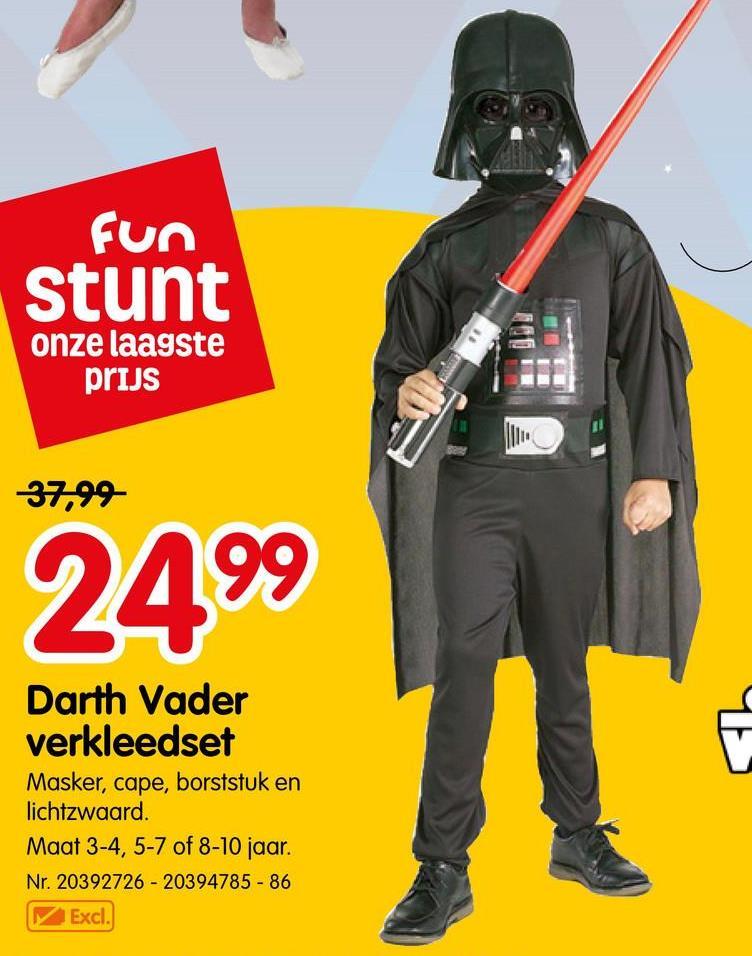 Kostuum Star Wars Darth Vader - Maat M Kostuum Star Wars Darth Vader - Maat M