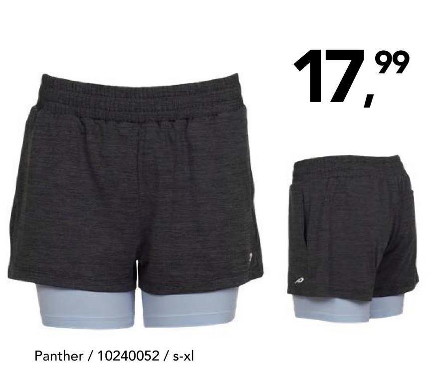 Short Panther Short de sport confortable à taille élastique et cordon de serrage pour hommes.