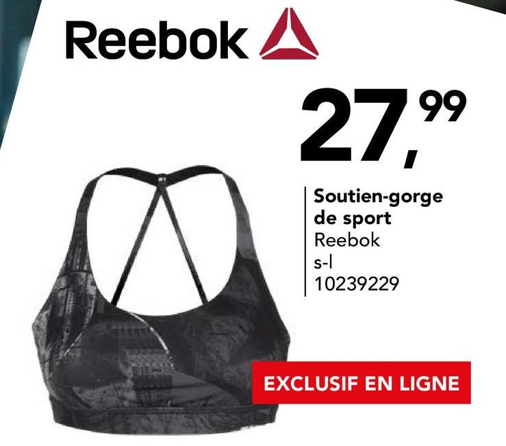 Reebok A Soutien-gorge de sport Reebok S-1 10239229 EXCLUSIF EN LIGNE
