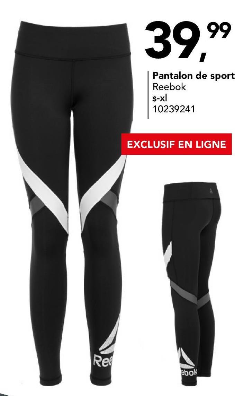 Pantalon de sport Reebok Pantalon de sport super confortable en gris à taille élastique et cordon de serrage pour femmes.
