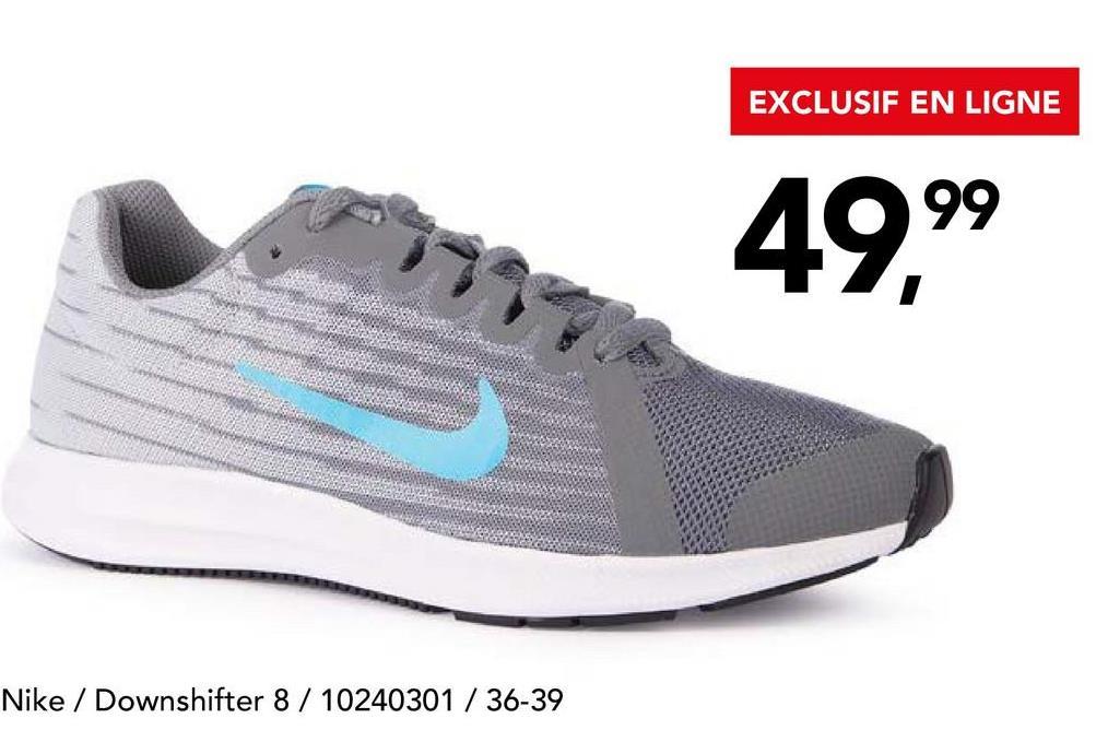 Chaussure de sport Nike Etes-vous encore à la recherche d'une paire de running tendance pour dames? Craquez pour cette chaussure de course signée Nike(DOWNSHIFTER 7 852466-001) qui fait rimer style et confort.