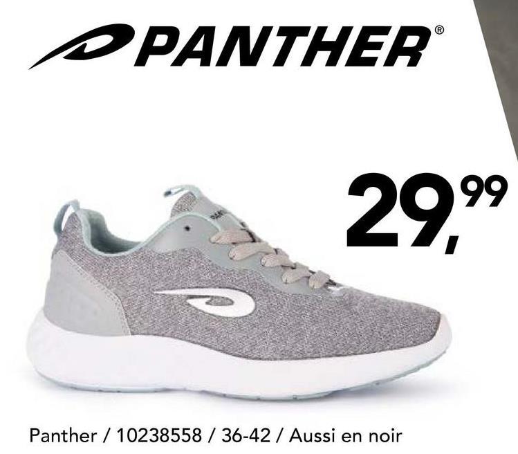 Chaussure de sport Panther Cette chaussure de sport à lacetsde Panther est appropriée pour différents sports!