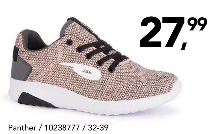 Chaussure de sport Panther A la recherche d'une chaussure de sport tendance pour filles? Optez pour ce modèle de Panther à fermeture à velcro!