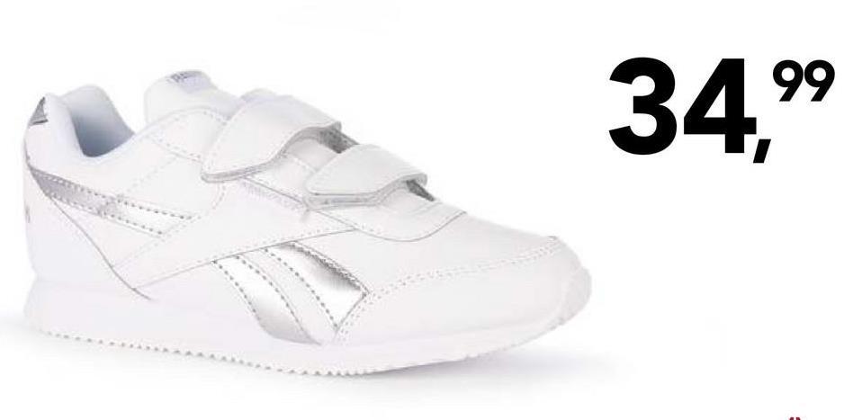 Chaussure de sport Reebok Chouettes chaussures de sport blanches avec une finition scintillante à lacets pour filles de la marque connue Reebok.
