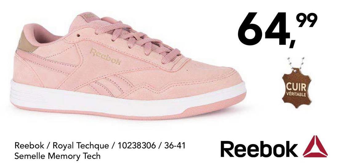 Chaussure de sport Reebok Chouettes chaussures de sport blanches avec une finition scintillante à lacets pour femmes de la marque connue Reebok.