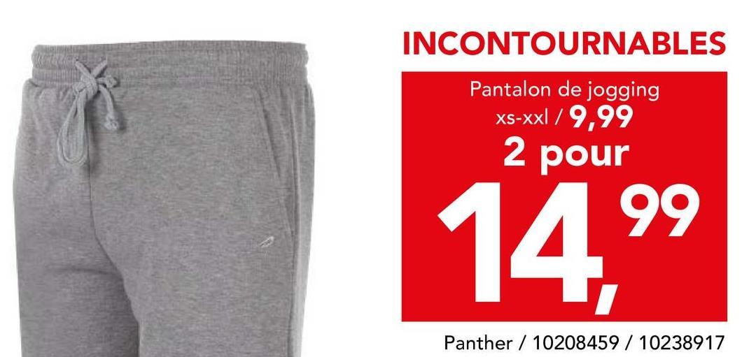 Pantalon Panther Deze comfortabele sportbroek met elastische tailleband en aansnoerkoord is een onmisbaar item voor alle sportieve mannen!