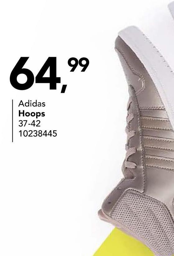 Chaussure de sport Adidas Optez pour un look basket typique avec ce VS HOOPS MID B74285 de Adidas. Cette chaussure de sport grise à lacets a les trois bandes typiques sur le côté.