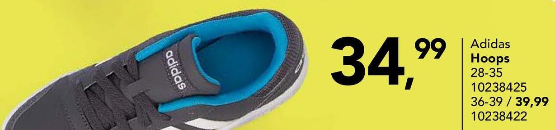 Chaussure de sport Adidas Chaussure de sport costaude VS HOOPS 2.0 K en blanc et noir pour garçons de la marque Adidas.