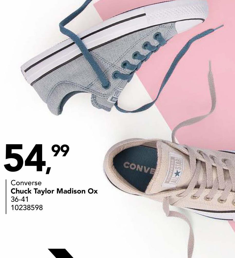 54,99 CONVE Converse Chuck Taylor Madison Ox 36-41 10238598