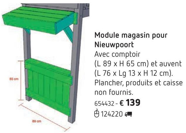 Module magasin pour Nieuwpoort