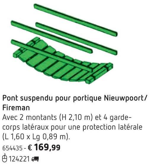 Pont suspendu pour portique Nieuwpoort/Fireman