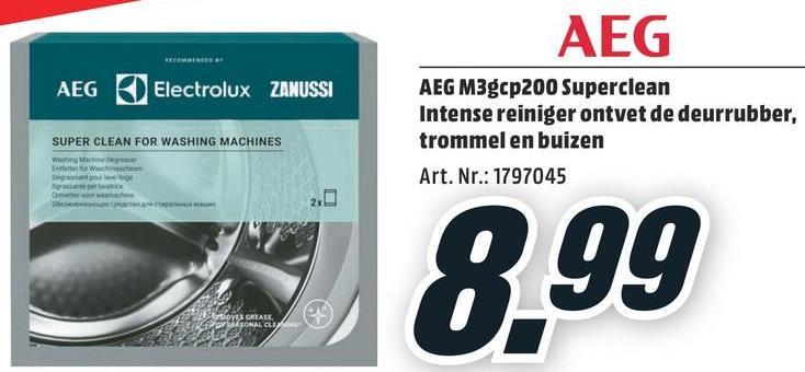 AEG Ontvetter voor wasmachine (M3GCP200) AEG Ontvetter voor wasmachine (M3GCP200)
