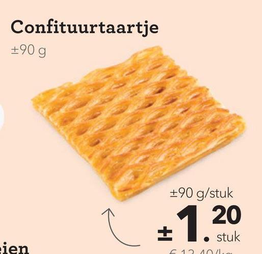 Confituurtaartje 190g +90 g/stuk 20 1. stuk ien 121