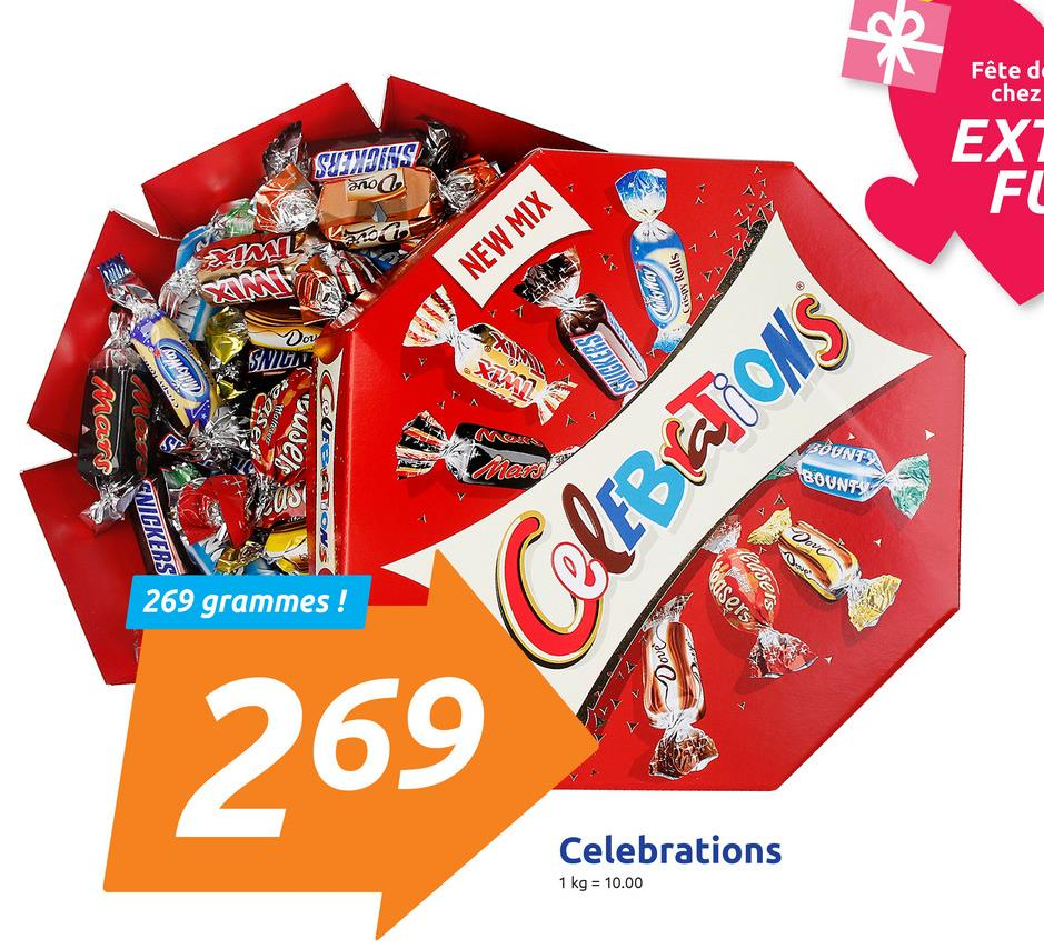 Fête de chez EX SNICKERS Dove FL Canotti NEW MIX Coloma Cuispy Rolls Dou SNUIT dialkyWay SHIGKERS U Mars S NAS. (elEBON BOUNT BOUNTY Men NICKERS 269 grammes ! CelEBATIONS casers husets Dove 269 Celebrations 1 kg = 10.00