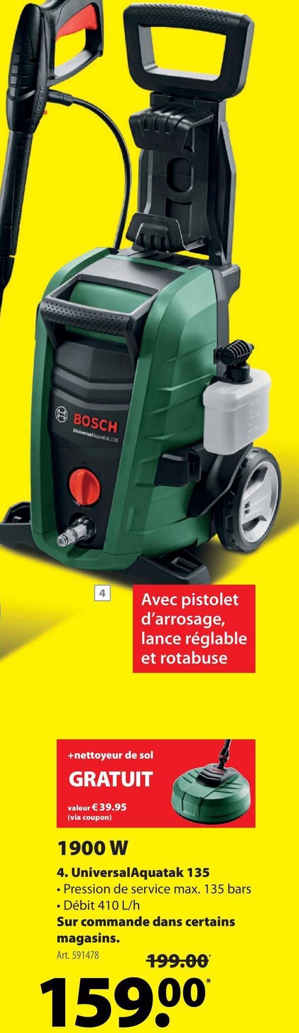 Nettoyeur haute pression Bosch EasyAquatak 135 -