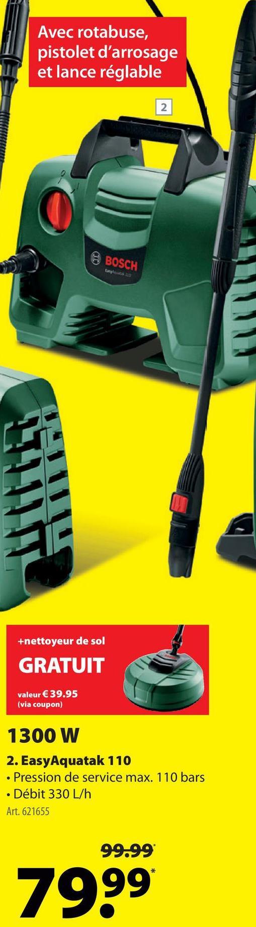 Nettoyeur haute pression Bosch EasyAquatak 110 -
