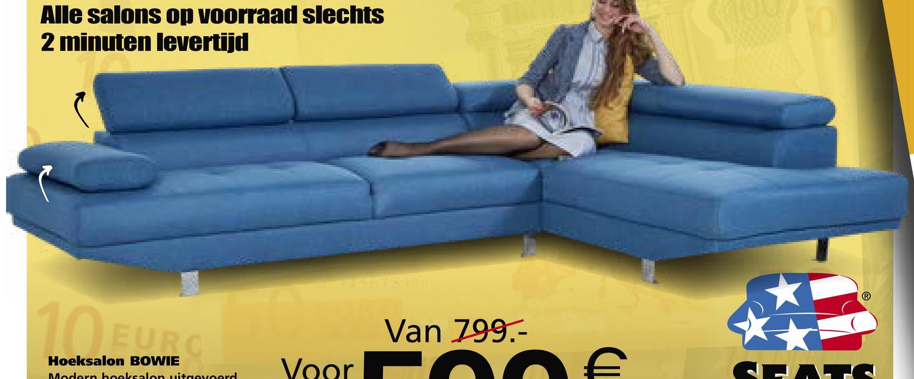 Alle salons op voorraad slechts 2 minuten levertijd Van 799.- Hoeksalon BOWIE Modern hoelsalon uitgevoerd Yaar €.