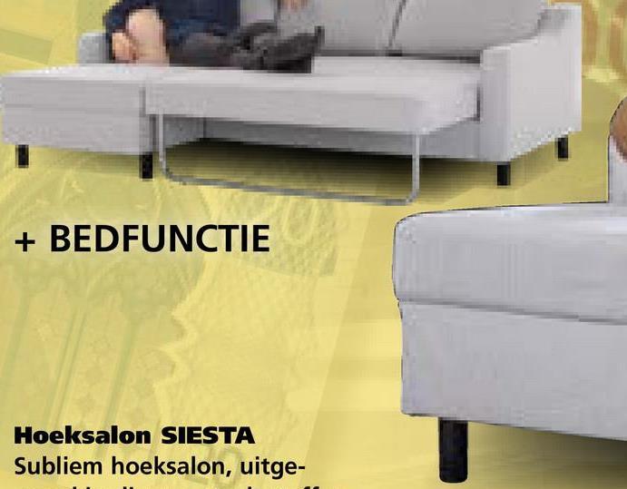 + BEDFUNCTIE Hoeksalon SIESTA Subliem hoeksalon, uitge-