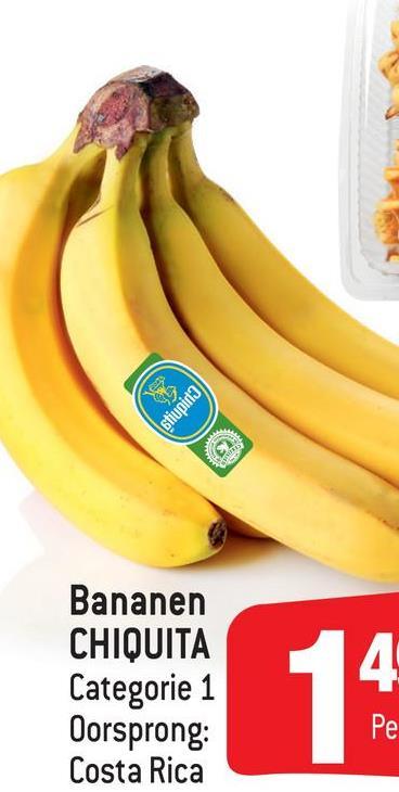 stiupino Bananen CHIQUITA Categorie 1 Oorsprong: Costa Rica Pe