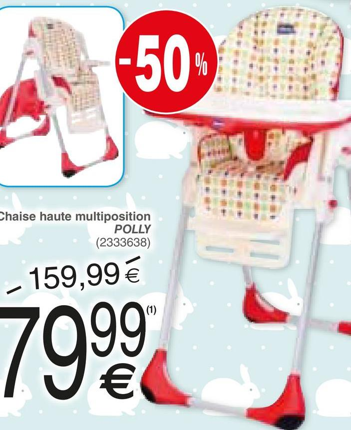 -50 Chaise haute multiposition POLLY (2333638) - 159,99 € 7999