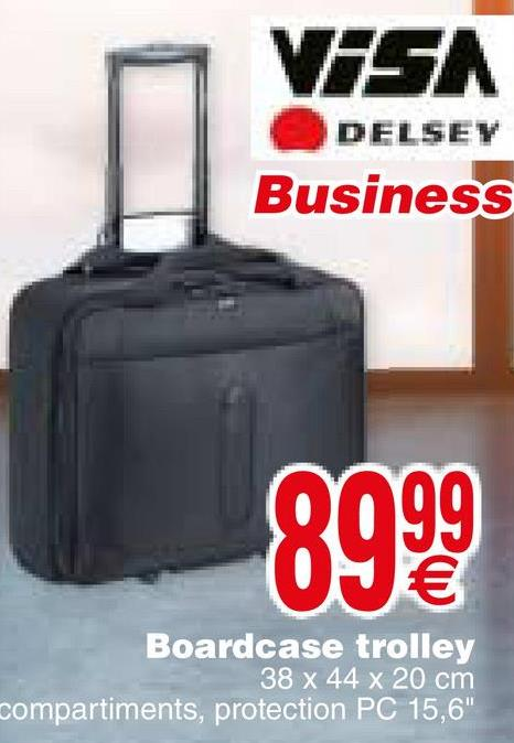VASA DELSEY Business 8999 Boardcase trolley 38 x 44 x 20 cm compartiments, protection PC 15,6""