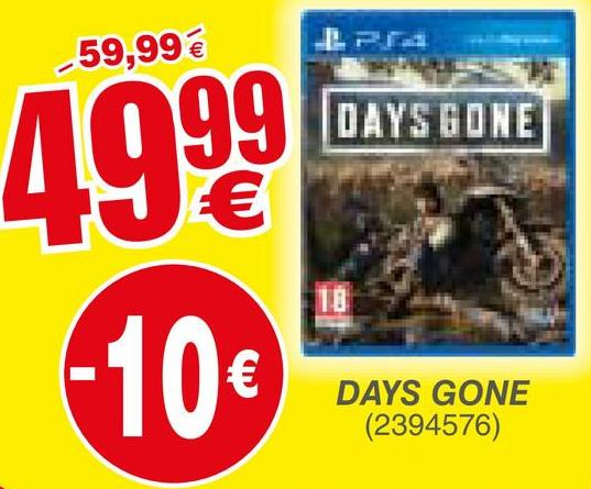 -59,99 € DAYS GONE 4999 wars tong (10€ DAYS GONE (2394576)