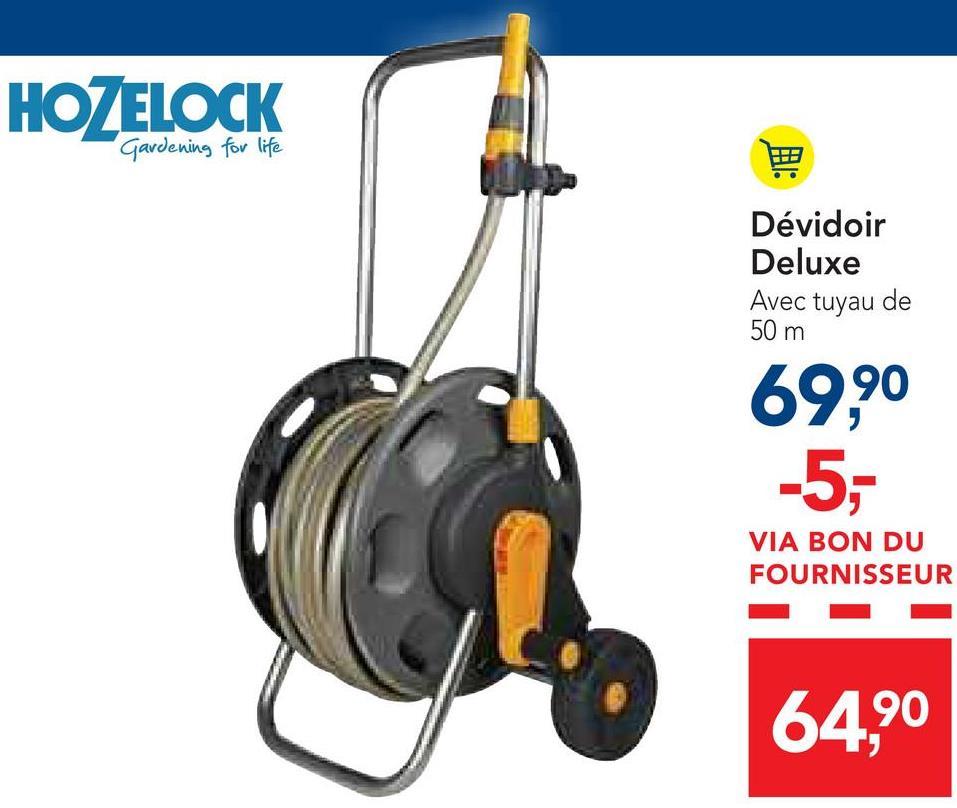 HOZELOCK Gardening for life Dévidoir Deluxe Avec tuyau de 50 m 69,90 -5,- VIA BON DU FOURNISSEUR 64,90