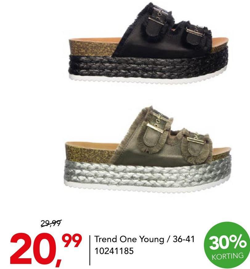 platform slipper Trend One Young Groen Dames Nog op zoek naar trendy en comfortabele slippers voor vrouwen? Wat dacht je van deze hippe platform slippers van het merk Trend One Young?
