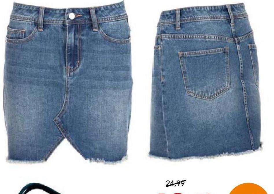 Rok 2-Bizzy Lichtblauwe denim Dames Trendy jeansshortje met rits- en knoopssluiting van het merk 2-Bizzy voor vrouwen. Draag dit rokje in combinatie met een leuk T-shirt en je bent helemaal festivalproof!