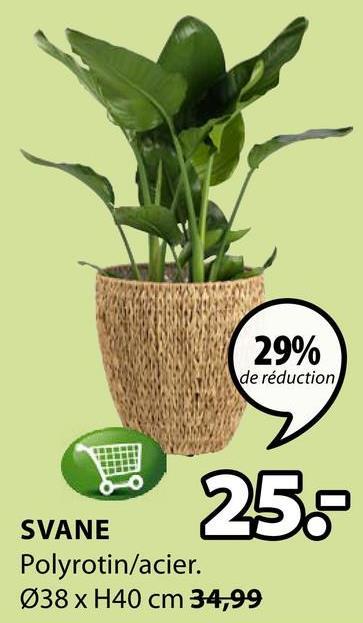 29% de réduction 258 SVANE Polyrotin/acier. Ø38 x H40 cm 34,99