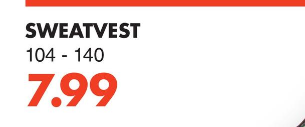 SWEATVEST 104 - 140 7.99