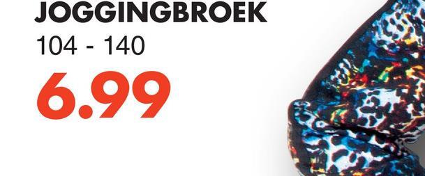 JOGGINGBROEK 104 - 140 6.99