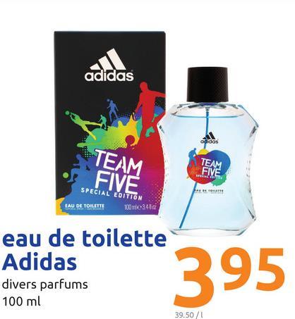 adidas TEAM TEAM SIVE SPECIAL EDITION LAU DE TOILETTE 1000-3416 eau de toilette Adidas divers parfums 100 ml 395 39.50/1