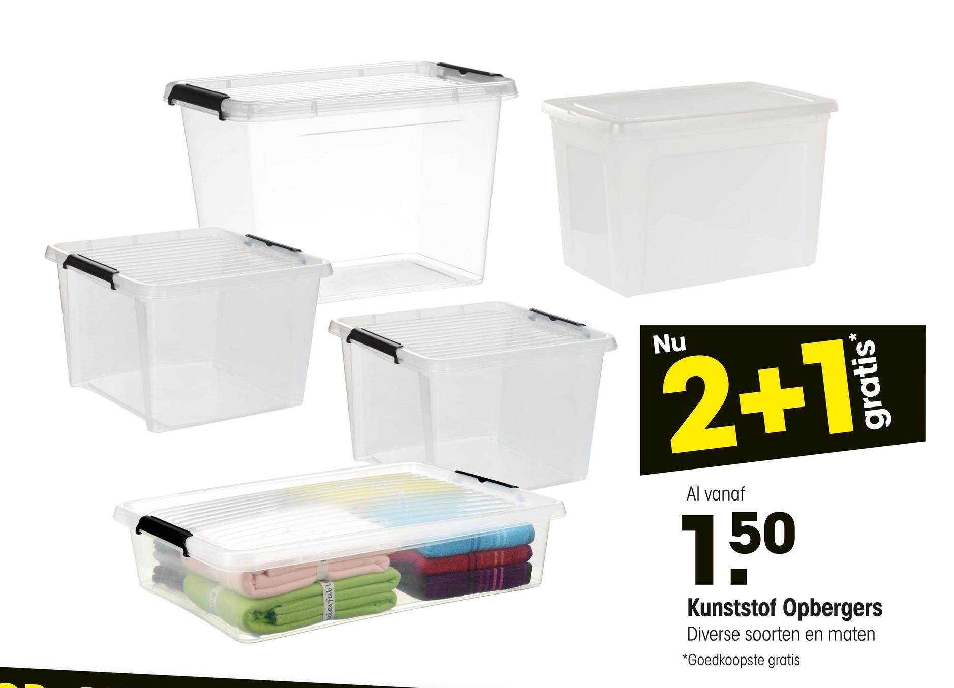 Opbergbox Handige kunststof opbergbox. Inhoud: 50 liter. Afmeting: 39,5x59,5x29 cm. (lxbxh).