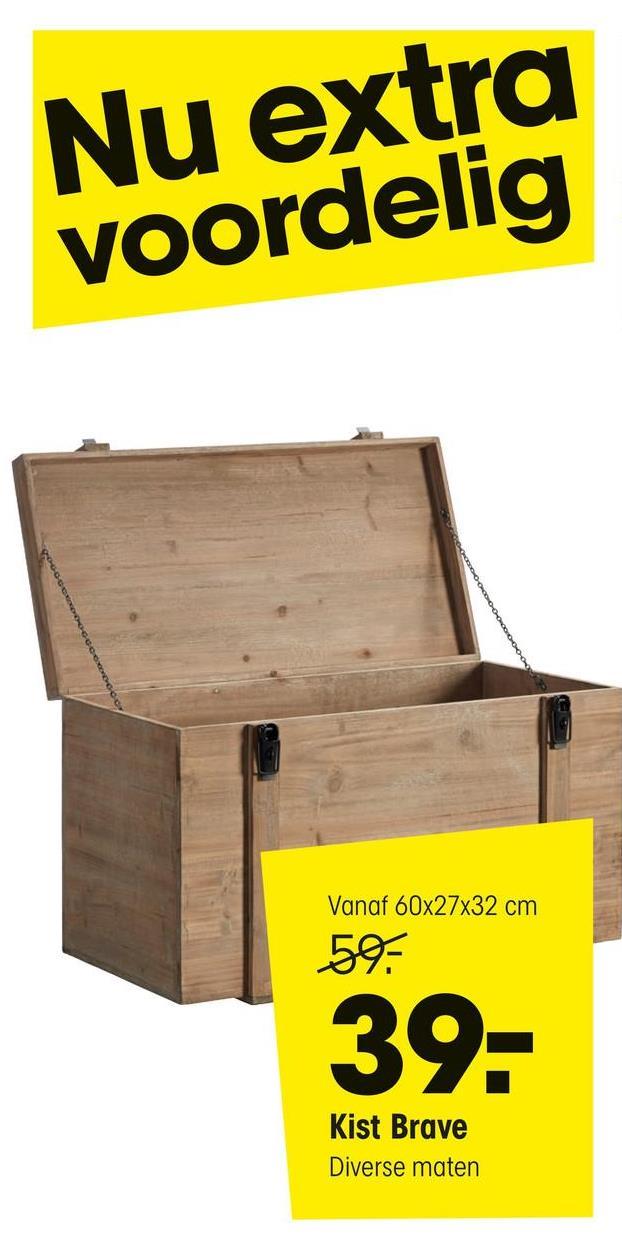 Verhuisdoos Houten Kist Bruin Verhuisdoos met houtlook. Met een draagkracht van 25 kg. 48x32x36 cm (lxbxh).