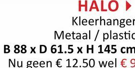 HALO Kleerhanger Metaal / plastic B 88 x D 61.5 x H 145 cm Nu geen € 12.50 wel € 9