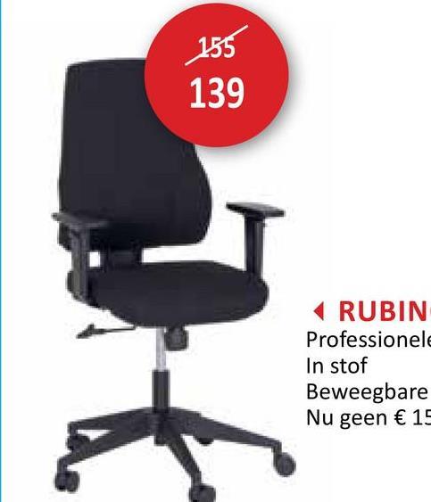 155 139 RUBIN Professionele In stof Beweegbare Nu geen € 15