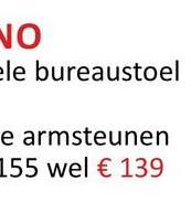 vo ele bureaustoel e armsteunen 155 wel € 139