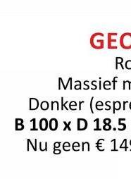 GEC RC Massief n Donker (espre B 100 x D 18.5 Nu geen € 14: