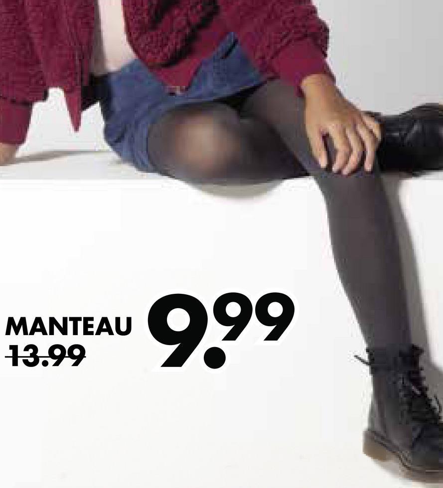 por ser av 9,99 MANTEAU 13.99