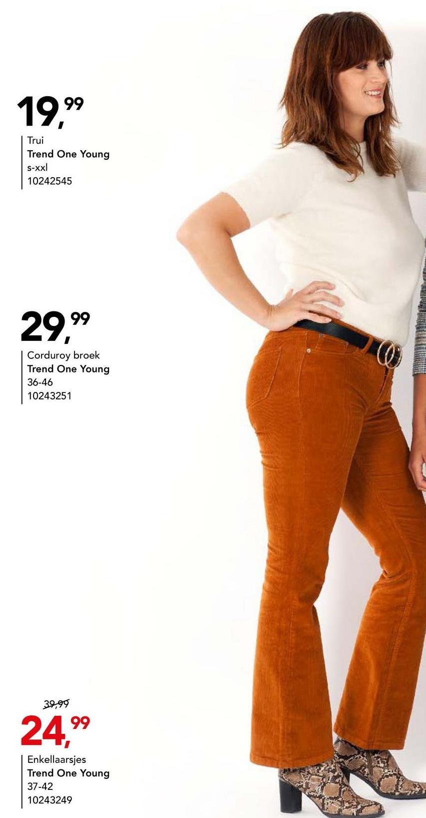 Trui Trend One Young - Camel Trendy trui met ronde hals en korte mouwen van het merk Trend One Young voor vrouwen. Deze trui kan je met talloze outfits combineren.
