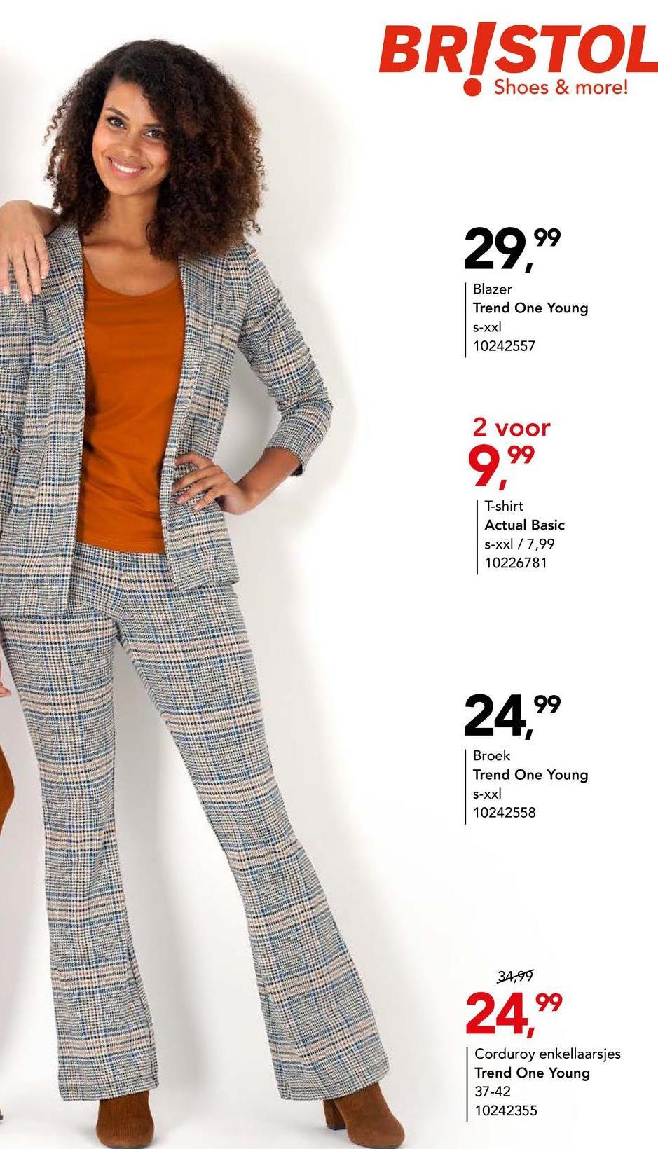 Blazer Trend One Young - Print Wij zijn helemaal fan van ruitjes! Jij ook? Shop dat meteen deze stijlvolle blazer met super trendy ruitjesprint. Combineer met de bijpassende broek of met je lievelingsjeans!