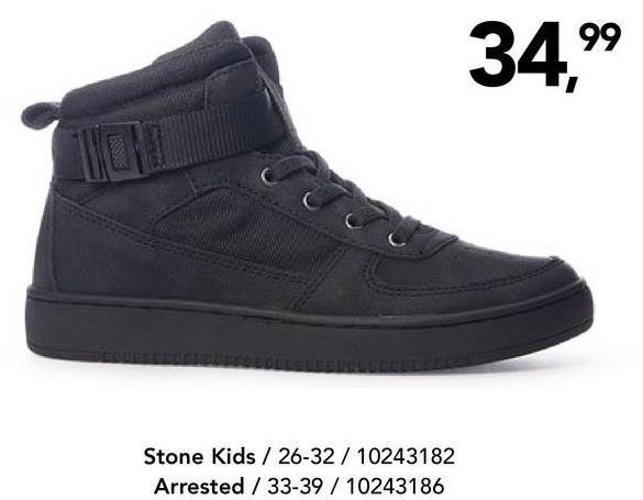 Enkellaars Stone Kids - Zwart Stoere enkellaars met elastische veters van het merk Stone Kids voor jongens.